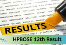 HP Board 12th Result 2020