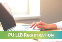 PU LLB 2019 application form