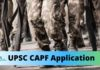 CAPF application form 2020