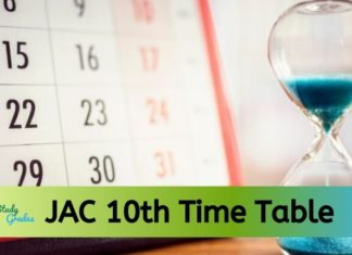 JAC 10th time table 2020