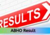 ABHO Result 2019-20