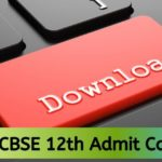 CBSE 12th Admit Card 2020