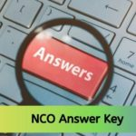 NCO Answer Key 2019-20