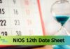 NIOS 12th date sheet 2020