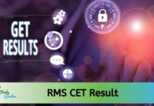 RMS CET Result 2020