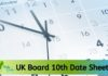 UK Board 10th Date Sheet 2020