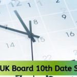 UK Board 10th Date Sheet 2021