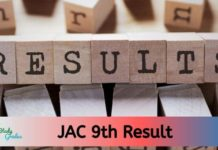 JAC 9th Result 2020