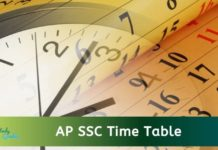 AP SSC Time Table 2021