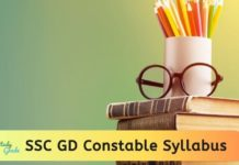 SSC GD Constable Syllabus 2020