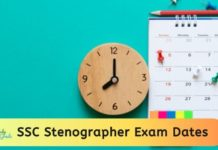 SSC Stenographer Exam Dates 2020