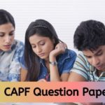 CAPF question papers 2020