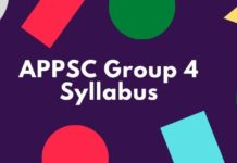 APPSC Group 4 Syllabus 2020