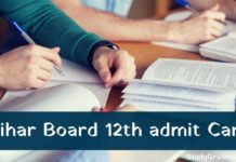 Bihar Board 12th admit card 2021