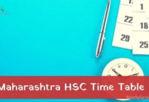 Maharashtra HSC Time Table 2021