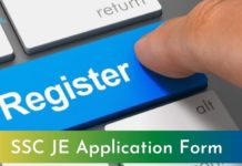 ssc je application form 2021